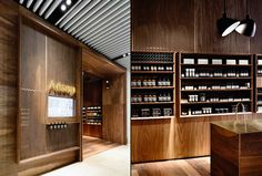 "Kerstin Thompson Architects used a limited palette of materials in the project for skincare brand Aesop to create an interior they said achieves ""beauty through restraint""."