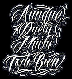 Currently browsing Aundue for your design inspiration Chicano Lettering, Tattoo Lettering Fonts, Hand Lettering Alphabet, Font Art, Graffiti Alphabet, Graffiti Lettering, Lettering Design, Graffiti Writing, Chicano Tattoos
