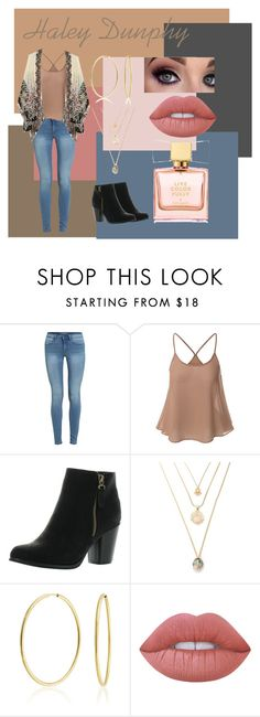 """""""Haley Dunphy Inspired Outfit"""" by khyligordon on Polyvore featuring Anna Sui, Reneeze, Bling Jewelry, Lime Crime and Kate Spade"""