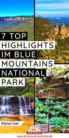 Über den Link gelangst du zu 7 Top Highlights im fantastischen Blue Mountains National Park bei Sydney #australien Brisbane, Melbourne, Sydney, Highlights, Im Blue, Blue Mountain, National Parks, Australia, Mountains