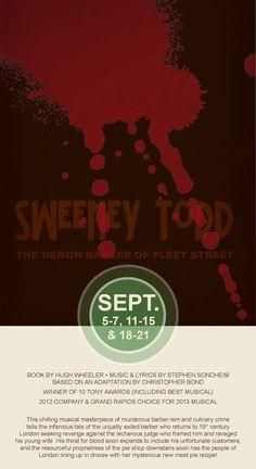 #SweeneyTodd #CircleTheatre 2013