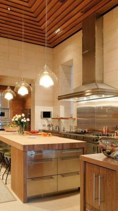 Luxury kitchen so nice!  Great design.  Different walls and ceiling. L o v e this