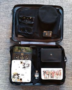 CHLOE.ROXANE - Travel : A glance at my packed suitcase. A packing flatlay is such a satisfying thing and obviously, my Night&Day bag by De Marquet is the perfect travel accessory. With its interchangeable covers, you can just pack a bunch of different covers into your suitcase and be ready to face any occasion during your travels. Happy travelling! Day Bag, Day For Night, Travel Accessories, Traveling By Yourself, Suitcase, Travelling, Chloe, Packing, Face