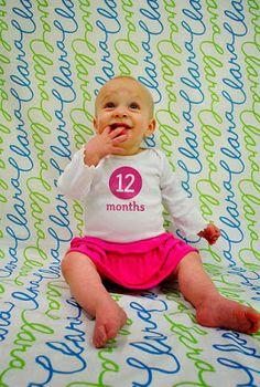 Baby Eco Chic: Fotos originales para ver los cambios del bebé con el tiempo