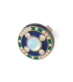 Love Royal Blue Ring by lia sophia. Feel like royalty when you wear this statement ring! Spot on for fall fashion this year, incorporating the Blue/Green color combo!