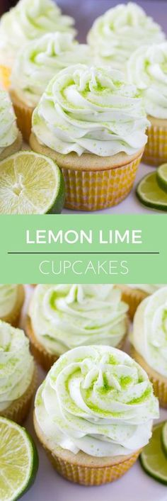 These Lemon Lime Cupcakes are perfect for summer. Fresh citrus taste, ridiculously soft cupcake crumb & topped with perfectly smooth lime buttercream! | ChicChicFindings.etsy.com