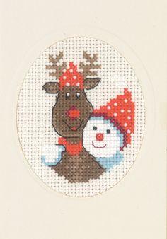 Christmas Cards - Permin UK Cross Stitch Christmas Cards, Santa Cross Stitch, Tiny Cross Stitch, Cross Stitch Cards, Christmas Cross, Cross Stitching, Cross Stitch Embroidery, Cross Stitch Patterns, Crochet Snowflake Pattern