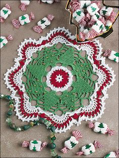 Annie's Attic has beautiful YARN for your next project!  Christmas Tree Doily