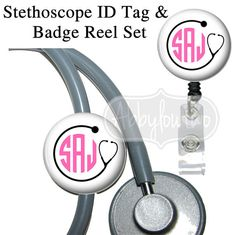 Stethoscope ID tags and Badge reels are ideal for Medical staff, Nurses, Doctors, Educators, Students, Government and Transportation workers who are