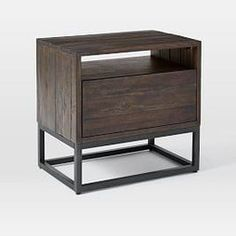Logan Bedside Table -Smoked Brown