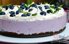 Heidelbeertorte ohne Backen Blueberry pie without baking Best Cookie Recipes, Popular Recipes, Sweet Recipes, Dinner With Ground Beef, Best Food Ever, Pinterest Recipes, Easy Desserts, Sour Cream, Cream Cream