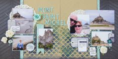 """Scrapbooking Ideas for Designing Two-Page Layouts with """"Bracketing"""" 