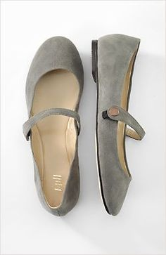 Gray Mary Jane shoes #WomenFashion