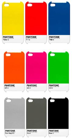 Pantone, the people of color, have released a new set of cases for the iPhone 4 and iPad with classic Pantone styling. These Pantone iPhone Cases are Pantone Black, Pantone Color, Pantone Number, Palette Pantone, Iphone 4s, Iphone Cases, 4s Cases, Iphone Skins, Pantone Universe