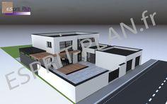 perspective habitation bardage bois plancher chauffant ballon eau chaude thermodynamique
