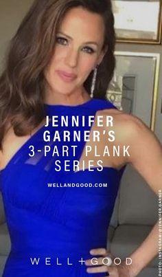 Jennifer Garner Planks