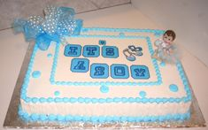 Baby boy shower : luxury boy baby shower cakes images and baby shower cakes kissimmee fl Baby Shower Sheet Cakes, Baby Shower Cakes For Boys, Baby Shower Niño, Elegant Baby Shower, Baby Boy Cakes, Boy Baby Shower Themes, Trendy Baby Girl Clothes, Baby Girl Birthday, Cake Images