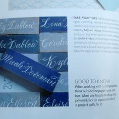 Escort card idea. Martha Stewart wedding magazine pg 238