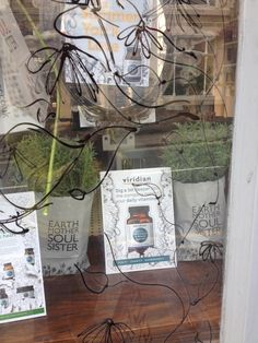 one of our window displays... french lavender & @viridianpics multivitamins by Viridian
