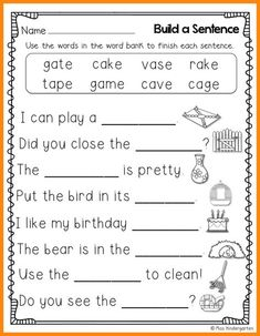 Image result for kindergarten worksheets