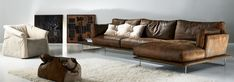 Image result for slouchy leather lounge