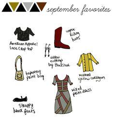 september favorites doodle sketch