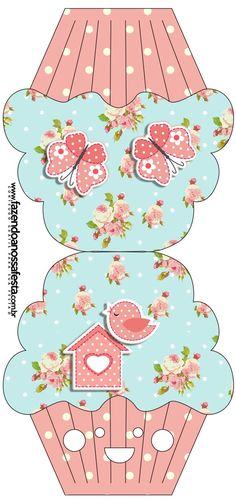 Shabby Chic in Pink and Light Blue: Free Printable Invitations. Card Making Ideas Free Printables, Free Printable Invitations, Vintage Christmas, Christmas Crafts, Pocket Envelopes, Boxes And Bows, Diy And Crafts, Paper Crafts, Paper Cupcake