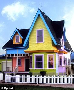Fantasy house: Contractors in Salt Lake City, Utah have built a perfect replica of the home from Disney film Up