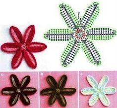 Crochet Flowers - Chart ❥ 4U // hf