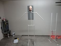 Instructions for creating a life size pvc frame for creepy characters.