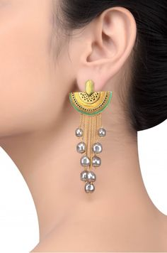 Tribe Amrapali offers unique handcrafted silver jewellery, fashion jewellery and tribal jewellery online and ships worldwide. Indian Jewelry Earrings, Fancy Jewellery, Silver Jewellery Indian, Trendy Jewelry, Jewelry Trends, Fashion Jewelry, Dangle Earrings, Silver Jewelry, Traditional Earrings