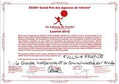Le Groupe FullSIX élu « Groupe Indépendant de Communication de l'Année »