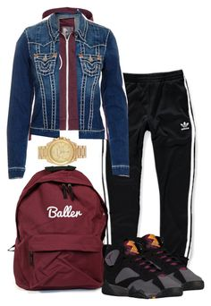 """refill"" by simoneswagg on Polyvore featuring adidas, Retrò, True Religion and Michael Kors"