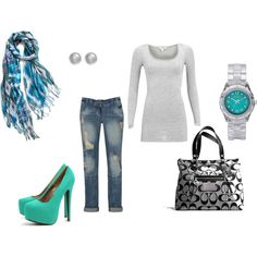 teal, created by aspickard11.polyvore.com