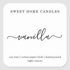 Personalized Candle Label Square Sticker   Zazzle.com