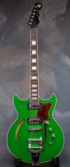 REVEREND Tricky Gomez LE 2013 Green Sparkle #7 of 13 worldwide | Larry's Music Center/Reverb