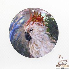 Creative Pendant Hand Painted  Parrot  Natural Black Lip Shell  ZL302263 #ZL #Pendant