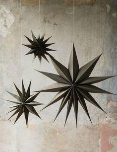 Natural Wooden Star Decoration