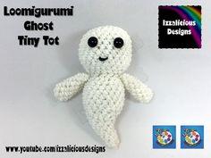 Loomigurumi Ghost Tiny Tot Halloween Figure - hook only - amigurumi with...