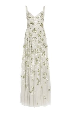 Valentina Sequin-Embroidered Tulle Gown by Needle & Thread Pretty Outfits, Pretty Dresses, Elegant Dresses, Vintage Dresses, Prom Dresses, Formal Dresses, Summer Dresses, Tulle Gown, Beautiful Gowns