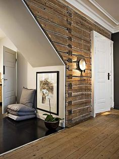 pallet wall              ♪ ♪    ... #inspiration_diy GB