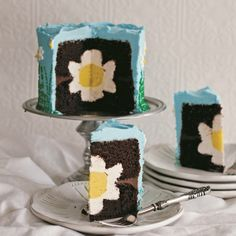 This sweet little cake design was originally inspired by my mother-in-law. Her birthday is January 6, and she loves the flowers. Since her birthday is in the dead of winter, I decided to make her a cake with glorious happy flowers all over it!