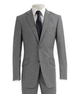 Slim Cut Light Gray Suit Perfect for SummerMen's slim fitting suit in breathable, light weight wool; perfect for the summer months. Comes in 2 button style with flat front pants and double vents. Groomsmen Looks, Groomsmen Grey, Light Grey Suits, Black Suits, Gray Suits, Suit Fashion, Mens Fashion, Charcoal Gray Suit, Morning Suits