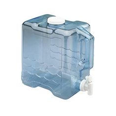 Water Jug 2 Gallon for Container With Spigot Handle Plastic Bottle Dispenser Gallon Water Jug, Juice Dispenser, Easy Fill, 2 Gallons, Water Containers, Plastic Design, Water Storage, Bottle Design, Serveware