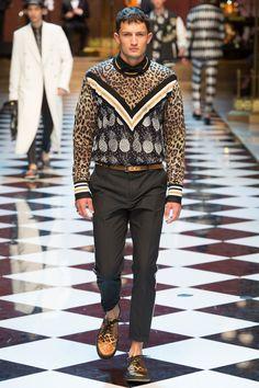 Dolce & Gabbana Spring 2017 Menswear Fashion Show - Fredrik