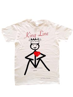 """T-Shirt King Line linea Love Line LOVE LINE ️by Federico Bertolotti È una linea che ha come protagonisti i """"Lovvini"""": personaggi in linea con il cuore. I """"Lovvini"""" nella loro essenzialità ci indicano una via...come fossero linee di vita. 100% Cotton,Love,Cool & Quality PRINTED IN ITALY Size: S M L XL XXL"""