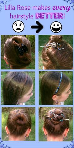 Which looks better to you? With a Lilla Rose hair accessory or without? http://lillarose.biz/rrobinson
