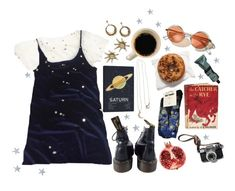 """""""city of stars"""" by herebemaddy ❤ liked on Polyvore featuring Tracie Andrews, Andrea Fohrman, Aesop, Edition, Dr. Martens and The Wild Unknown"""