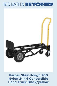 The Harper Steel Tough Nylon Convertible Hand Truck converts from hand truck to platform truck in seconds. Crafted of extremely durable lightweight black nylon fiberglass. Integrated stair glides help to ease movement up and down stairs. 67 Mustang, Ford Classic Cars, Shelby Gt500, Baby Store, Black Nylons, Health And Safety, Black N Yellow, Storage Organization, 2 In