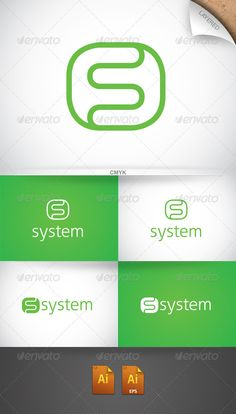 System Logo  #GraphicRiver         ··CMYK  ··Layered  ··Text and colors fully editable  ··Free font: Cleanvertising  ··Any question